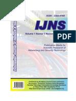 IJNS Vol 1 No 1 Nov 2012