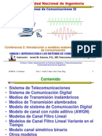 Lecture 2 Intro. a Telecom y Modelos de Canal