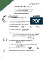 Bain Cap, Inc - 1990 Foreign Corp. Cert.