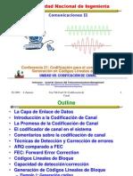Lecture 19 Codificación para Control de Errores. Generación Códigos Lineales.