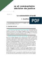 Methodes d Exercices Juridiques Le Commentaire d Arret