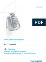 Manual Telefon Fix Philips Cd245