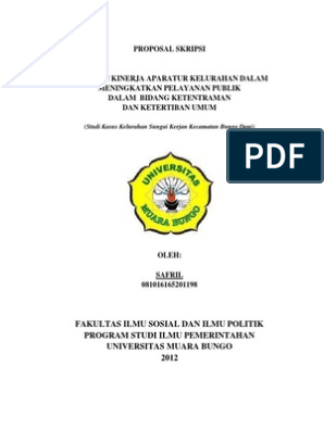 Contoh Proposal Skripsi Ilmu Politik Pdf Berbagi Contoh Proposal
