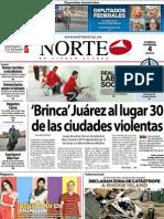 Periodico Norte de Ciudad Juárez 4 de Noviembre de 2012
