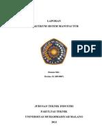 Laporan Praktikum Sistem Manufakture