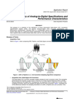 A Glossary of Analog-To-Digital Specifications and Performance Charecteristics