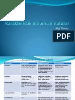 Karakteristik Umum Air Natural