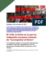 Noticias Uruguayas Domingo 4 de Noviembre Del 2012