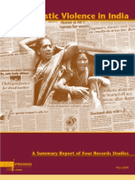 Domestic Violence in India 2 a Summary Report of Four Records Studies