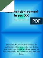 Matematicieni Romani in Sec