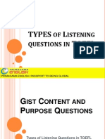 TYPES of Listening Questions in TOEFL