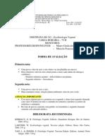 Avaliacao Bibliografia Ecofisiologia Vegetal