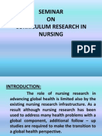 Curriculam Research in Nursing