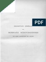 Description des monnaies mérovingiennes par ordre alphabétique des ateliers. T. III