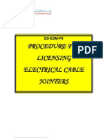 Licensing Electrical Cables Jointers