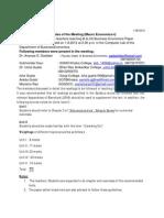 Bbe Minutes Sem III, 2012