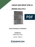 Guide d'Installation Et d'Utilisation ADR2500eXtra P3.2_253399745-A_Ed.01