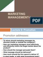 Marketing Management Lecture 8