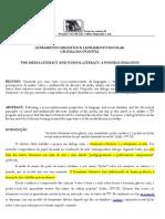 BOAVENTURA, Lêda Maria Vieira - Letramento midiático e letramento escolar