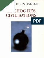 Le Choc Des Civilisations-Samuel P. HUNTINGTON