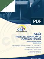 Guía para la Elaboración de Planes de Trabajo ELECCIONES 2013