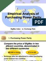 (II)PPP Using BigMac