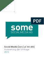 Social Media Umfrage 2012 - Auswertungen