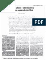 Ecologia aplicada a agroecossistemas como base para a sustentabilidade