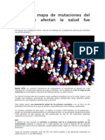 El Primer Mapa de Mutaciones Del ADN Que Afectan La Salud