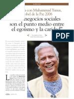 Exclusiva con Muhammad Yunus, Nobel de la Paz 2006