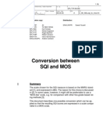 Conversion Between SQI and MOS
