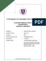 2009 2010 Sem 1 Test 1 Question & Answer Sceme Bfc 3142