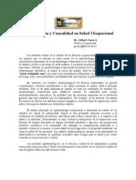 Epidemiología y Causalidad en Salud Ocupacional