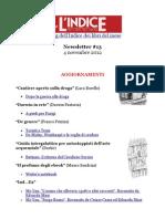 Newsletter#13 - 4 Novembre 2012