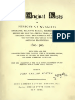 Nickerson Pages From the Original Lists of Persons of Quality