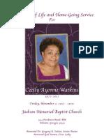 Cecily Watkins Program Book Final