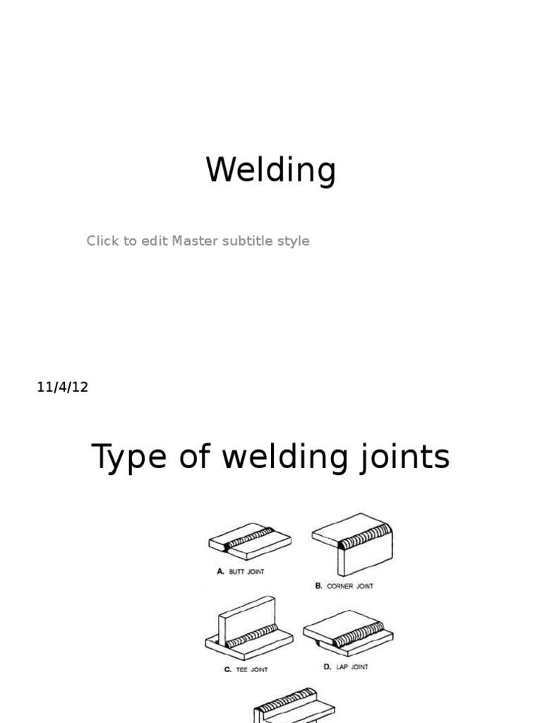 Welding Ppt Steel Joint Diagram