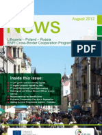 Newsletter of the Polish Lithuanian Russian crossborder programme 01 2012