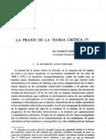 GARCÍA COTARELO, Ramón_La praxis de la teoría crítica