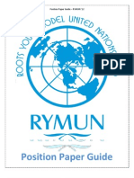 Position Paper Guide RYMUN 2012