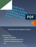 Desarrollo de la perspectiva teórica revisión de la literatura y construcción del marco teórico