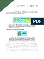 Código de capacitores e tipos de capacitores
