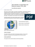 What is the Tranverse Mercator Projection and ITRF_2005