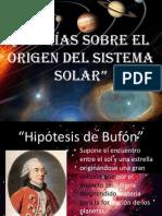 Teorías Sobre el Origen del Sistema Solar