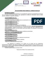Convocatorias Elecciones Consejo Escolar 2012