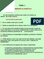 Tema 1 Membrana Plasmatica y Pared Celular Vegetal