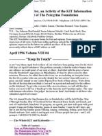 Kit April 1996, Vol Viii #4 New 4-8-96