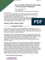 KIT January 1996, Vol VIII #1 New 1-8-96