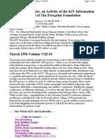 Kit March 1996, Vol Viii #3 New 3-10-96