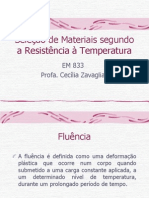 Sele%E7%E3o de Materiais Segundo a Resist%EAncia %E0 Temperatura